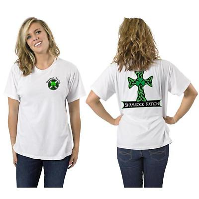 Irish T-Shirt - Celtic Cross Short Sleeve White T-Shirt