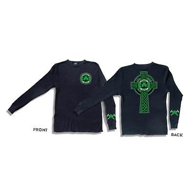 Irish T-Shirt - Shamrock Nation Fire Fighter Long Sleeve Black T-Shirt