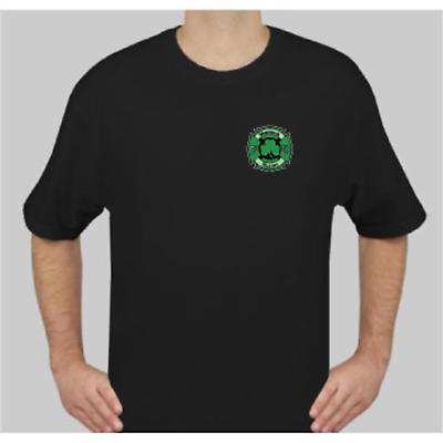 Irish T-Shirt - Shamrock Nation Fire Fighter Short Sleeve Black T-Shirt