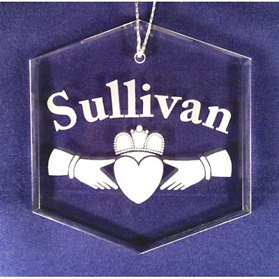 Personalized Claddagh Glass Ornament