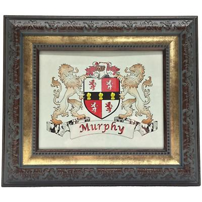 Personalized Irish Coat of Arms Framed Print - Antique Two-Tone Frame