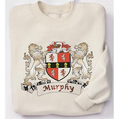 Personalized Coat of Arms Sweatshirt - Natural