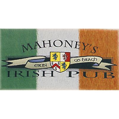 Irish T-Shirt - Personalized Irish Pub Coat of Arms Flag (Natural)