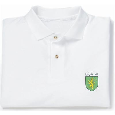 Personalized Coat of Arms Polo Shirt - White