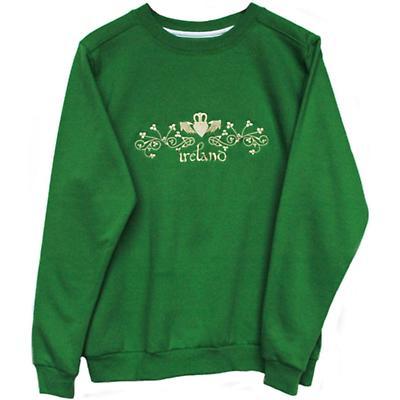 Irish Sweatshirt - Ladies Kelly Green Claddagh Embroidered Sweatshirt