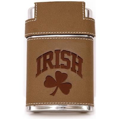 Irish Triple Shot Leather Flask