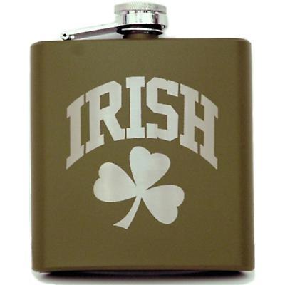 Green Irish Flask