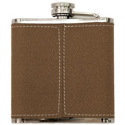 Irish Leather Flask Box Set