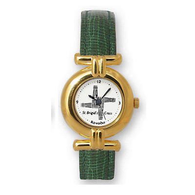 Ladies St Brigit's Cross Watch - Gold Plated