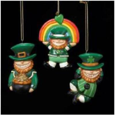 Irish Christmas - Leprechaun Ornaments - Set of 3
