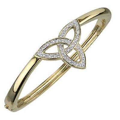 Celtic Bracelet - 18k Gold Plated with Crystals Trinity Knot Bracelet