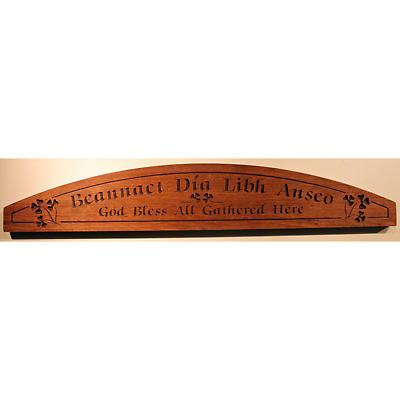 """""""God Bless"""" Wood Door Plaque"""