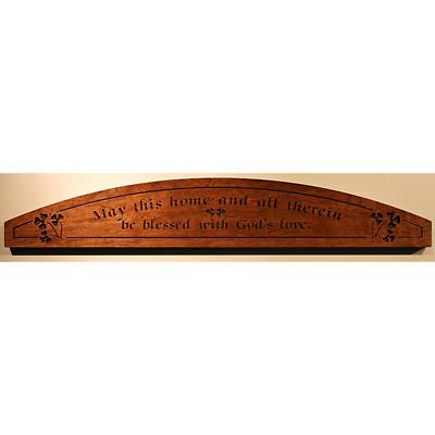 """""""May This Home"""" Wood Door Plaque"""