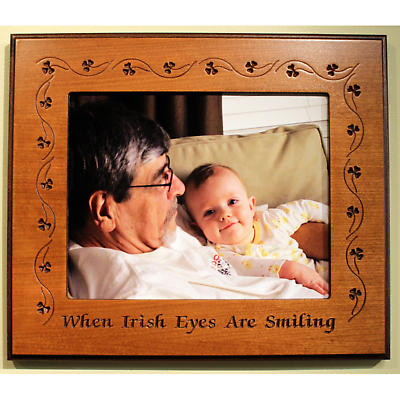 """When Irish Eyes Are Smiling"" Wood Frame"