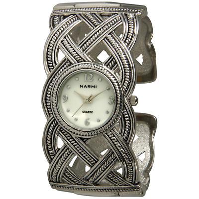 Celtic Jewelry - Silvertone Celtic Watch Bracelet