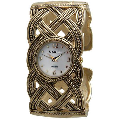 Celtic Jewelry - Goldtone Celtic Watch Bracelet