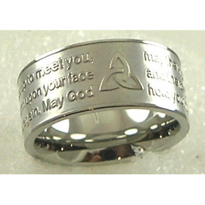 Irish Ring - Irish Blessing Stainless Steel Ring