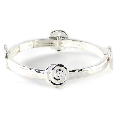 Irish Bracelet - Silver Tone Spiral Stretch Bracelet