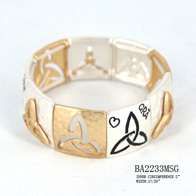 Irish Bracelet - Gra (Love) Three Tone Stretch Bracelet