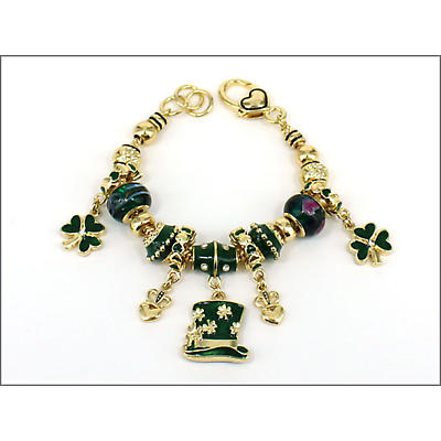 Irish Jewelry - Luck of the Irish Charm and Bead Bracelet