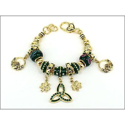 Trinity Knot Jewelry - Trinity Knot Charm and Bead Bracelet