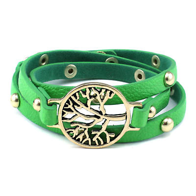 Irish Bracelet - Tree of Life - Green