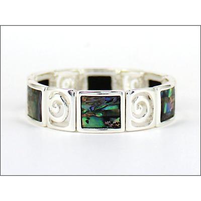 Irish Bracelet - Abalone Spiral Stretch Bracelet