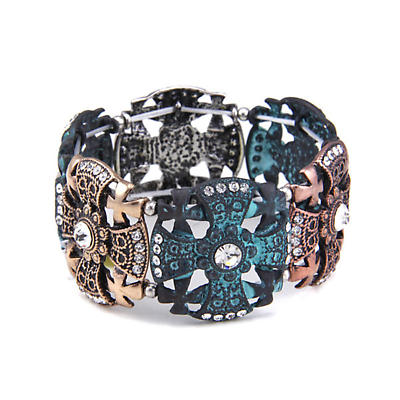 Irish Bracelet - Three Tone Cross Bracelet
