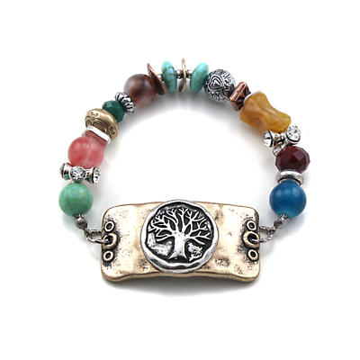 Irish Bracelet - Tree of Life Single Strand Beaded Bracelet