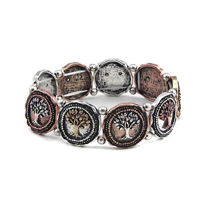 Irish Bracelet - Tree of Life Three Tone Bracelet