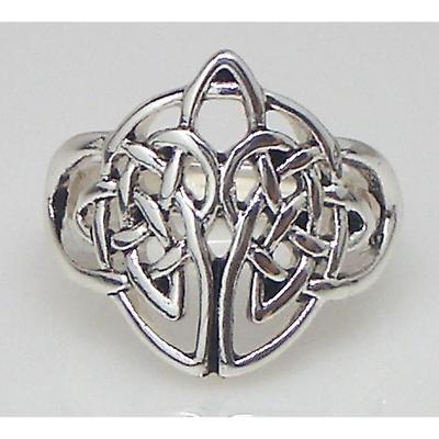 Celtic Ring - Silvertone Celtic Knot Stretch Ring