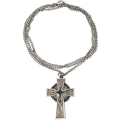 Celtic Jewelry - Pewter Celtic Cross Watch Necklace