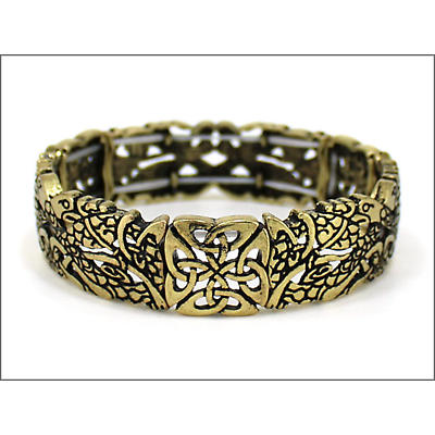 Irish Bracelet - Brasstone Book of Kells Stretch Bracelet
