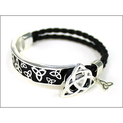 Irish Bracelet - Circle of Life Trinity Leather Bracelet