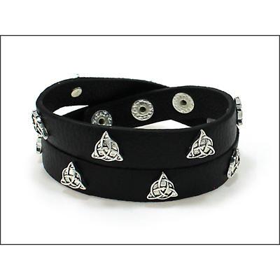 Irish Bracelet - Trinity Wrap Leather Bracelet