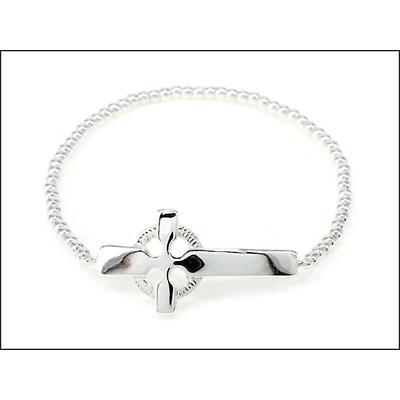 Irish Bracelet - Celtic Cross Beaded Stretch Bracelet