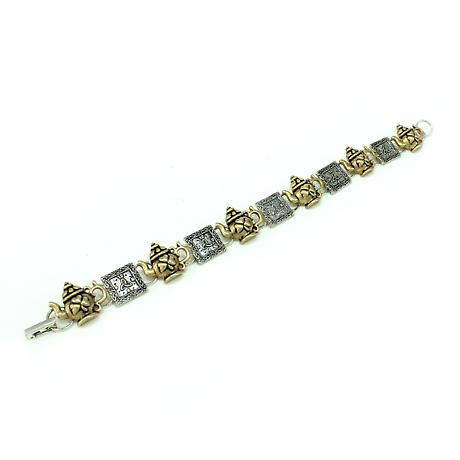 Irish Bracelet - Two Tone Irish Tea Time Bracelet