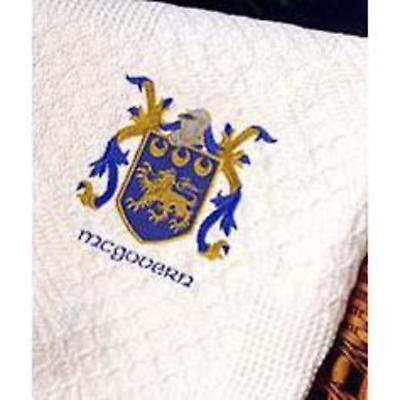 Personalized Coat of Arms Throw