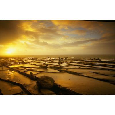 The Burren at sunset Photographic Print