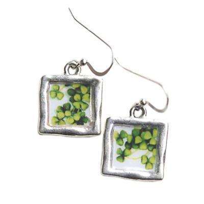 "Irish Earrings - Vintage ""Sweet Shamrocks"" Earrings"