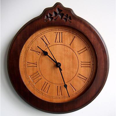 Shamrock Wood Clock