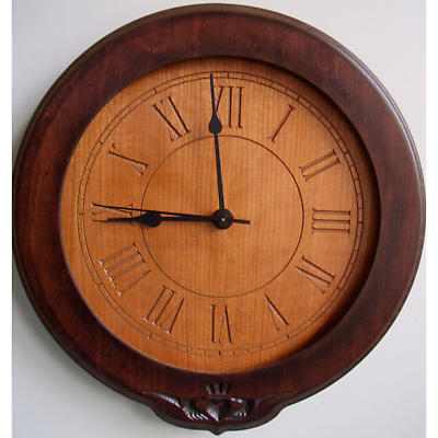 Claddagh Wood Clock