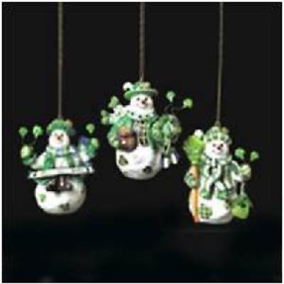 Irish Christmas - Irish Snowman Ornaments - Set of 3