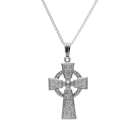 Celtic Cross - Celtic Warrior Cross Sterling Silver Necklace