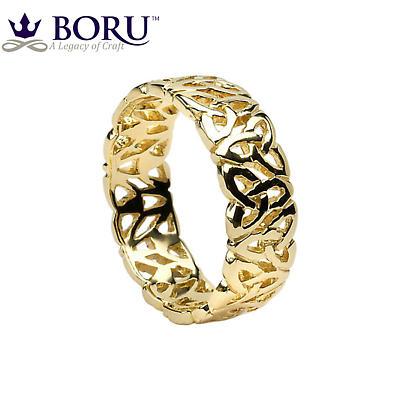 Trinity Knot Ring - Men's Trinity Knot Filigree Irish Wedding Ring