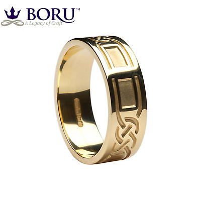 Celtic Ring - Ladies Celtic Knot Panel Wedding Band