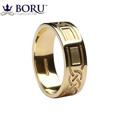 Celtic Ring - Men's Celtic Knot Panel Wedding Band