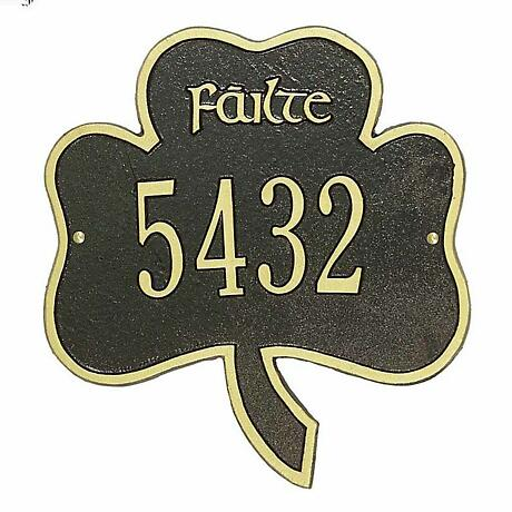 Personalized Shamrock Plaque - 1 Line