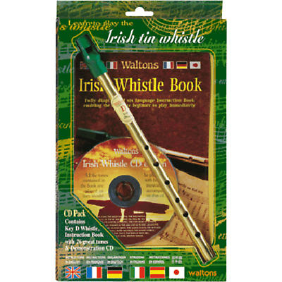 Irish Tin Whistle CD Pak (Whistle, Book & CD)