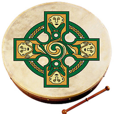 "Bodhran Drum - 8"" Gallen Cross"